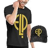 Tengyuntong T-Shirt Denim Berretto da Baseball Cappello da Cowboy Uomo Emerson Lake e Palm...