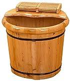 Barril Baño Pie Madera Maciza Regalo para el hogar Cuenca de pie de madera, bañera de pie de madera maciza, pedicure spa masaje masaje barrels de pedicura para el hogar Barril de baño, Masajeador Artí