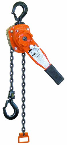 CM Series 653 Lever Hoist, Hook Mount, 3/4 Ton Capacity, 8' Lift, 12-5/8' Headroom, 11' Lever Length, 1-1/8' Hook Opening