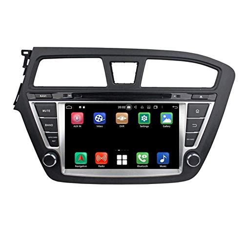 Android 10.0 Autoradio Navigazione GPS per Hyundai I20(2014-2018) LHD, 8 Pollici Touchscreen Lettore DVD Radio Bluetooth