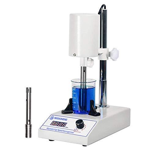 MXBAOHENG Laborhomogenisator Einstellbare Laboremulgiermaschine 5-1000ML Homogenisatoren FSH-2A Lab Disperser Emulgator 6000 ~ 22000 U / min mit 1212G und 1218G Arbeitskopf (220 V)