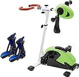 Skyyue Pedale Elettrico Esercizio, Riabilitazione Cyclette Pedale del Ciclo Trainer con Registrabile Resistenza for Arm ed Esercizi Ginocchio 8.13