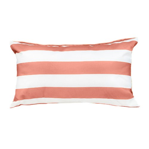 Gardenista Garden Outdoor Scatter Cushion | Patio Rattan Chair Patterned Furniture Throw Pillow | Water Resistant | Hypoallergenic Hollowfibre Filled | 12' x 20' (Pink Stripe)