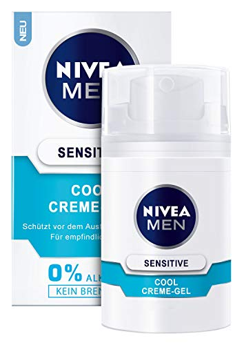 3x Nivea Sensitive Cool Creme-Gel kühlt schützt empfindliche Männerhaut je 50ml