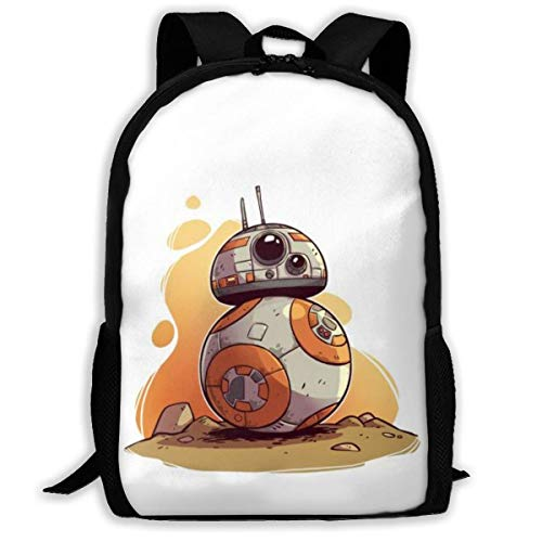 Star War Bb8 Children's Backpack Boys School Book Shoulder Bag Kids School Bag Travel Bag for Women Men,Size 43X28X16Cm