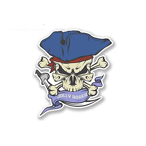 Jolly Roger Schedel Piraten Vlag Fine Decal Graffiti Sticker Graffiti Auto Sticker Car Wrap Pull Flower