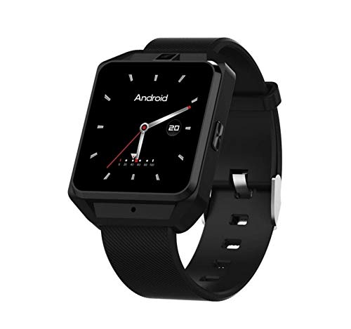 KTH Volle Netcom 4G Internet Android M5 Smart Uhr WiFi Bluetooth Herzfrequenz Multifunktionsanruf GPS-Navigationsuhr (Color : Schwarz)