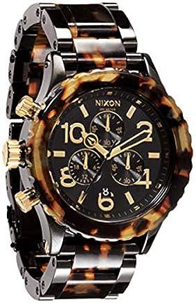 [ニクソン] NIXON 腕時計 メンズ レディース 42-20 クロノグラフ トータス×ブラック 男女兼用 A037-679 [並行輸入品]