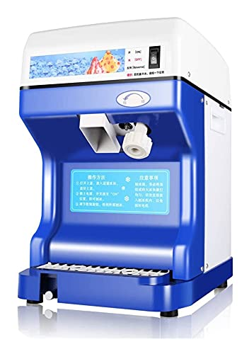 AutomaticIce Shaver Machine Ice Crusher Electric Snow Cone Maker Shaving 264lbs Per Hour Commerical Grade High Power (Color : Blue)