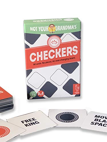 Henhouse Games' Not Your Grandma's Checkers Card Game | New Family-Friendly Game | Great for Kids, Teens and Adults | for 2 Players Ages 7+