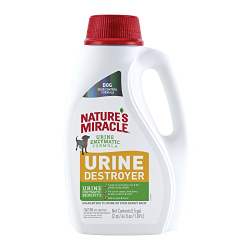 Nature's Miracle P-98147 Dog Urine Destroyer, Dog Urine Stain Remover and Odor Control, White,64 fl oz