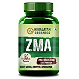 Himalayan Organics ZMA (Zinc, Magnesium Aspartate) Nighttime Sports Recovery Supplement - 120 Veg Tablets