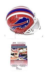 Thurman Thomas Buffalo Bills Signed Autograph Mini Helmet JSA Witnessed Certified