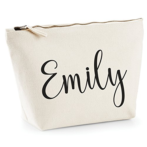 Personalised Hand Made Makeup Bag Wash Travel Make Up Bag Accessory Case Add Your Name! (Medium)
