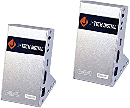 J-Tech Digital Wireless HDMI Extender Zero Latency 30M (100ft) 4K@30Hz HDCP 1.4 with CEC Function for Gaming, Live TV and Desktop Computer [JTECH-WEX-60GA]