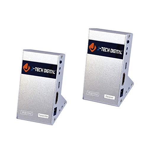J-Tech Digital HDbitT Series Wireless HDMI Extender 660 Feet Supporting Full HD 1080P with IR Signal Transmission (Transmitter and Receiver)