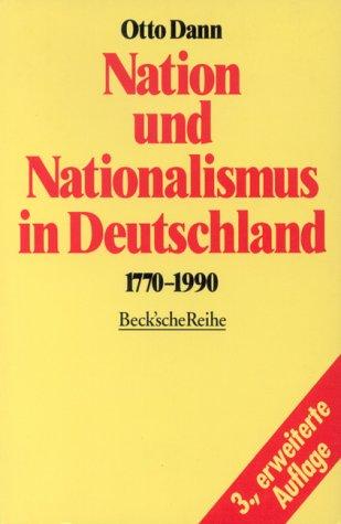 otto dann nation und nationalismus in deutschland