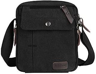 Jonon Vintage Militaire Hommes Toile Messenger Bag pour 13.3-17Laptop 13.3, marron