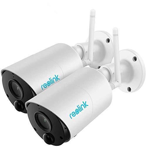 Reolink Überwachungskamera Argus Eco WLAN Kamera mit Akku für Außen, kabellos, 1080p HD, mit SD-Kartenslot, PIR-Bewegungsmelder, 2,4Ghz WLAN, IR-Nachtsicht, 2-Wege-Audio (2 Pack)