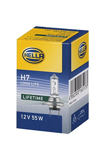 HELLA 8GH 007 157-201 Glühlampe - H7 - Long Life up to 3x longer lifetime - 12V/55W - PX26d - Schachtel - Menge: 1