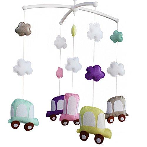 Süße Autos Baby Mobile Kinderbett Mobile Musikalisches Handy Baby Geschenk Baby Bettdekoration