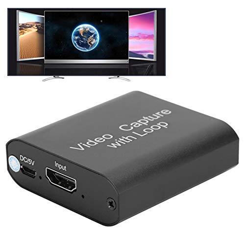 Tarjeta de Captura de Video, Tarjeta de Captura USB 2.0 Resolución de Salida 1080P Captura de Video HDMI para OBS para VLC