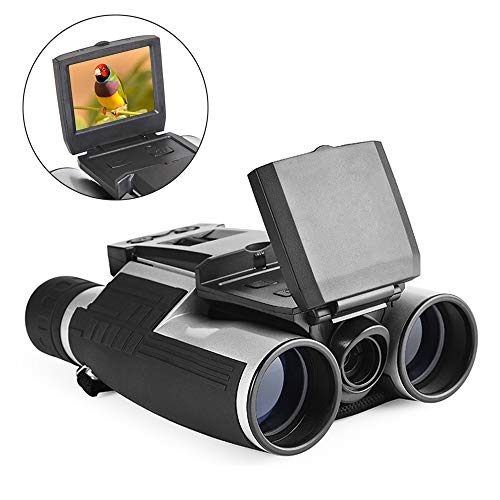 "Digital Binoculars Camera Telescope Camera 2"" LCD Display 12x32 5MP Video Photo Recorder with Free 8GB Micro SD Card for Watching Bird Football Game Concert"