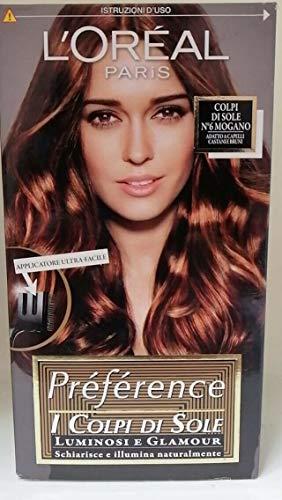 L'Oréal Paris Préférence Colpi di Sole Capelli Luminosi e Glamour, N 6 Mogano