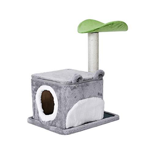 yikula Kratzbaum-Kletterkätzchen-Kratzer, Der EIN Kleines Aktivitätszentrum Für Katzenklettergerüste Mit Wohnungen, Plattformen Und Dächern Zusammenbaut