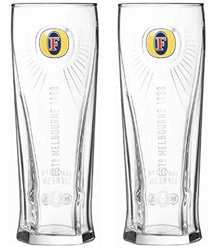 2 vasos de media pinta Fosters