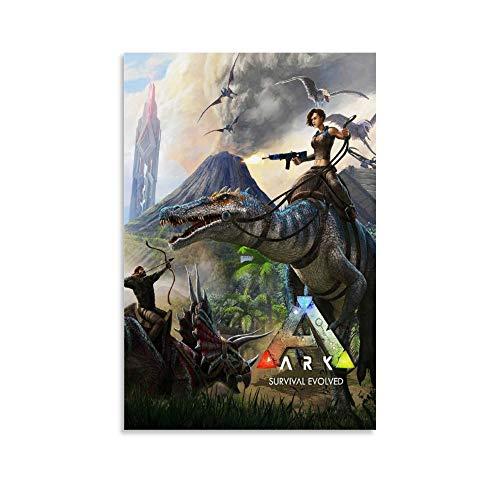 Ark Survival Evolution Leinwand-Kunst-Poster und Wandkunstdruck, modernes Familienschlafzimmerdekor, 30 x 45 cm