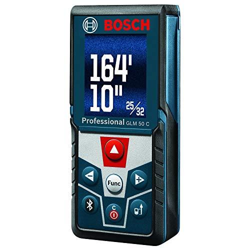 BOSCH Blaze GLM 50 C Bluetooth Enabled 165†Laser Distance Measure with Color Backlit Display