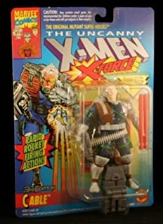 3RD EDITION CABLE with RAPID ROCKET FIRING ACTION The Uncanny X-Men X-Force Action Figure & Official Marvel Universe Trading Card