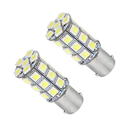 Dankera 2Pcs 6000K Interior LED Bulb 1156 BA15S Bulb Reverse Light, 12V-24V 27SMD Used for Truck Car Backup Reverse Lights, Tail Parking Lights,Camper Trailer RV Interior Light