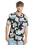 Quiksilver - Camisa de Manga Corta - Hombre - S - Negro