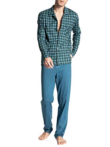 CALIDA Herren Relax Imprint 1 Pyjamaset, Blue Lake, L