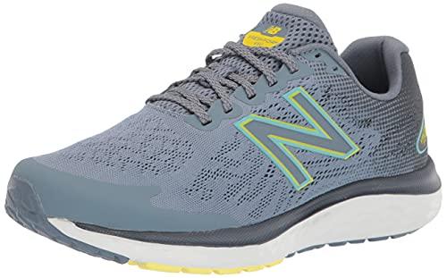 New Balance Men's Fresh Foam 680 V7 Running Shoe, Light Cyclone/Ocean Grey/First Light, 7