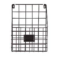 1PCSシンプルな錬鉄製マガジン収納ボックス、壁掛け新聞ラックリビングルームクリエイティブ収納バスケット