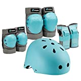 Spofine Kids Bike Helmet, Toddler Helmet Adjustable for Kids Youth Adult, Knee Pads Elbow Pads Wrist Guards Kids Protective Gear Set for Skateboard, Bike, Roller Skating, Cycling, Scooter, Rollerblade