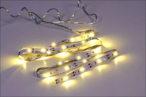 LED Stripe 3m mit 90 LED - warmweiß - Batterie betrieben - Individuell kürzbar nach jeder LED