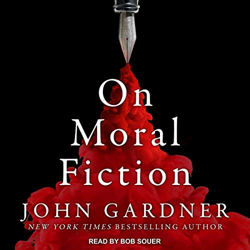 On Moral Fiction audiobook cover art