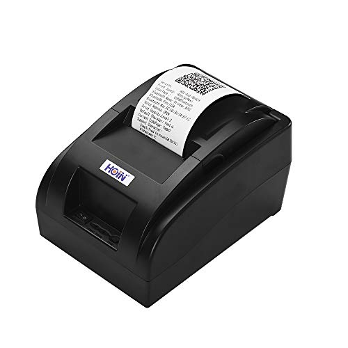 Aibecy HOIN - Impresora de recibos térmica BT inalámbrica portátil de 58 mm con cable USB,...
