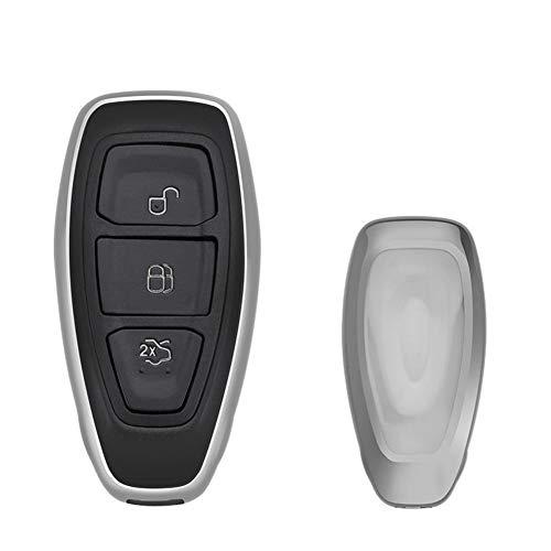 NUIOsdz Cubierta de la Llave del Coche Cubierta de la Llave del Coche del Control Remoto Inteligente Accesorio del Coche, para Ford C-MAX Focus RS ST Fiesta Hatch