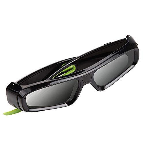 FOWYJ Luxus-3D-Brille, DLP Link Gläser Aktive Shutter Externe Umgebung Anti-Lichtinterferenz-Fähigkeit Kompatibel Mit Benq Optoma Dell Mitsubishi Samsung Ace Lade