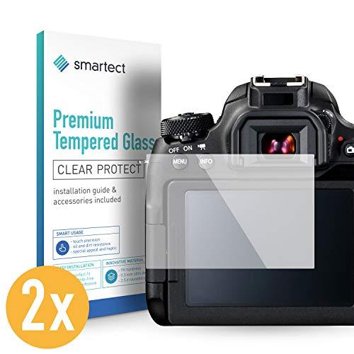 smartect Panzerglas kompatibel mit Canon EOS 77D [2 Stück] - Displayschutz mit 9H Härte - Blasenfreie Schutzfolie - Anti Fingerprint Panzerglasfolie