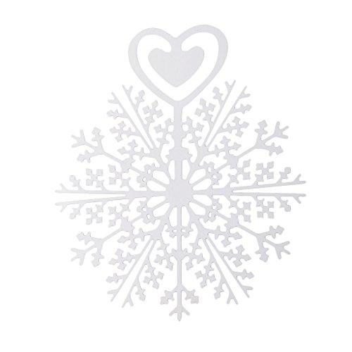 Hellery Regalo Romantico Del Regalo Dell'ufficio Della Scuola Della Clip Di Carta Dei Segnalibri Del Metallo Del Fiocco Di Neve - 4#