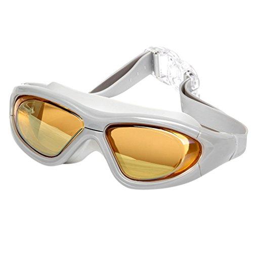 Tookang Unisex Gafas De Natación Marco Grande Alta Definición Anti-UV Anti Niebla Impermeable Gafas De Protección Viene Con Caja De Gafas Naranja