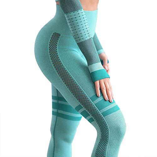 RRUI Dames Leggings Sport Panty & Leggings Negen punten naadloze yoga holle broek outdoor sport vrouwen spandex vrouwen leggings donkergroen
