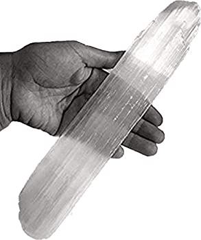 Selenite Stick 6 to 8.5 Inches long 1 to 2 inches wide white healing stone strong protection powers