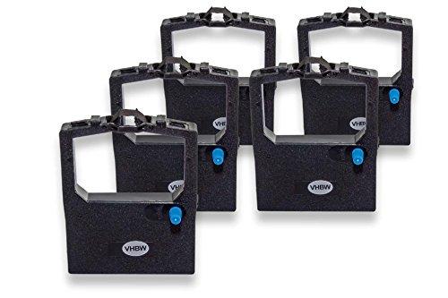 vhbw 5x Cinta de tinta de nailon para su impresora matricial OKI Microline ML-321, ML-3320, ML-3321, ML-390, ML-5320 como 9002303.